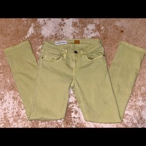 Chartreuse green Pilcro jeans size 24S